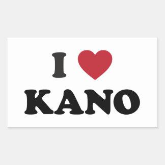 I Heart Kano Nigeria Rectangular Stickers
