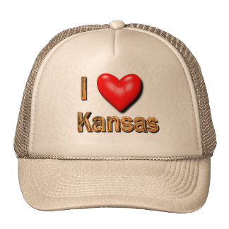 I Heart Kansas Cap