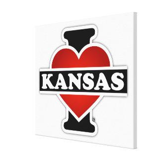 I Heart Kansas Gallery Wrap Canvas