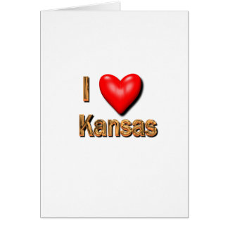 I Heart Kansas Greeting Card