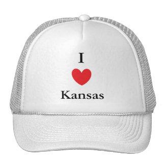 I Heart Kansas Hats