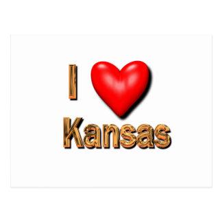 I Heart Kansas Postcard