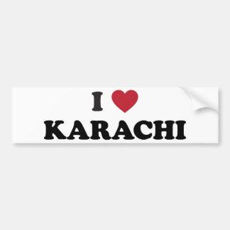 I Heart Karachi Pakistan Bumper Sticker