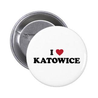 I Heart Katowice Poland 6 Cm Round Badge