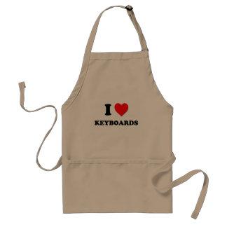 I Heart Keyboards Adult Apron