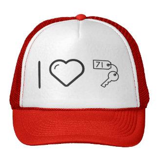 I Heart Keychains Cap