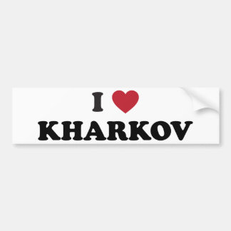 I Heart Kharkov Ukraine Bumper Stickers