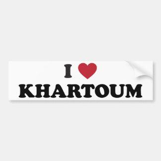I Heart khartoum sudan Bumper Sticker