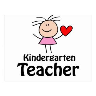 I Heart Kindergarten Teacher Postcard