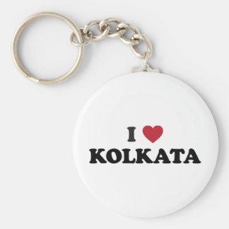I Heart Kolkata India Basic Round Button Key Ring