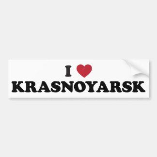 I Heart Krasnoyarsk Russia Bumper Sticker