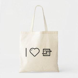 I Heart Labyrinths Budget Tote Bag