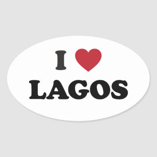 I Heart Lagos Nigeria Oval Sticker