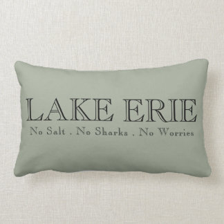 I heart LAKE ERIE Lumbar Cushion