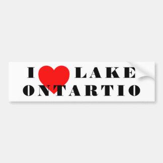 I heart lake Ontario Bumper Sticker