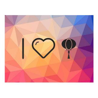 I Heart Lanterns Postcard