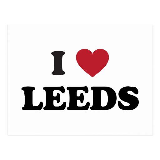 I Heart Leeds England Postcards