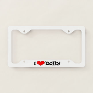 I Heart License Plate Frame