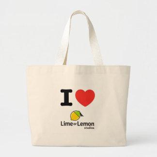 """I Heart Lime or Lemon"" Tote Bag"