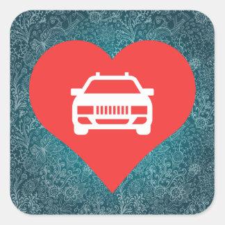 I Heart Limousines Square Sticker