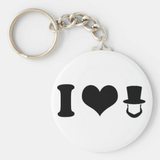 I Heart Lincoln Basic Round Button Key Ring