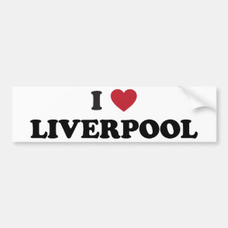 I Heart Liverpool England Bumper Stickers