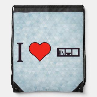 I Heart Livingroom Furniture Drawstring Bags