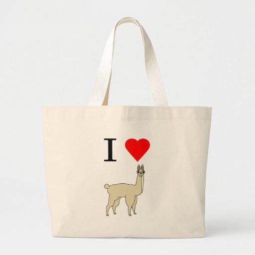 i heart llama bag