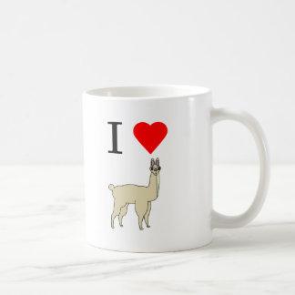 i heart llama coffee mug