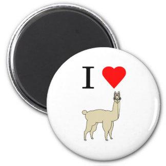 i heart llama magnet