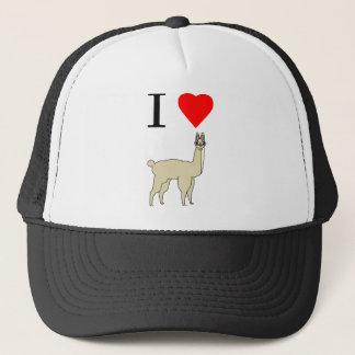 i heart llama trucker hat