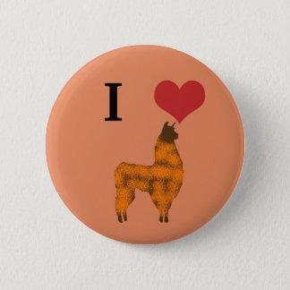 I heart llamas 6 cm round badge