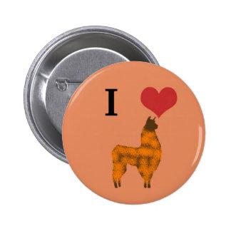 I heart llamas buttons