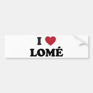 I Heart Lome Togo Bumper Sticker