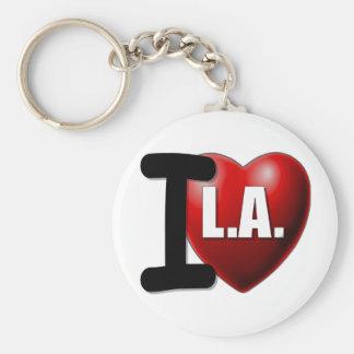 I Heart Los Angeles - I Love LA Basic Round Button Key Ring