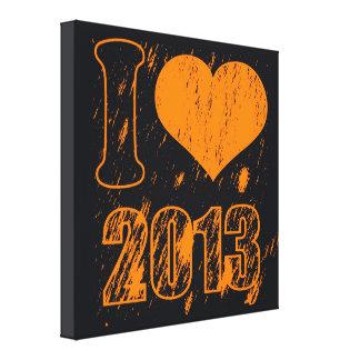 I heart (love)  2013 - Happy new year 2013 -  Xmas Gallery Wrapped Canvas