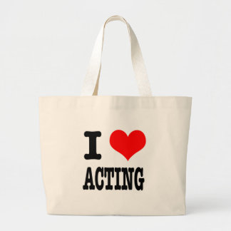 I HEART (LOVE) ACTING LARGE TOTE BAG