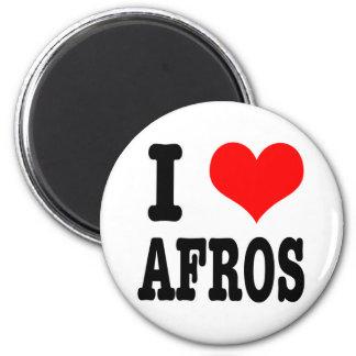 I HEART (LOVE) AFROS MAGNET