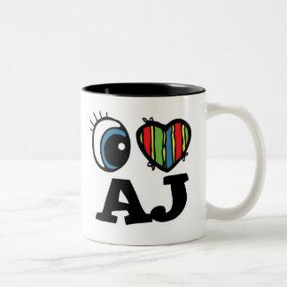 I Heart (Love) AJ Two-Tone Mug