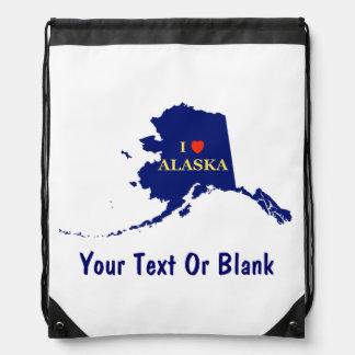 I Heart (Love) Alaska Drawstring Bag