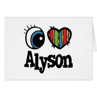 I Heart (Love) Alyson Greeting Card