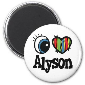 I Heart (Love) Alyson 6 Cm Round Magnet