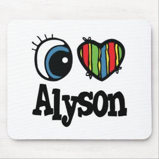 I Heart (Love) Alyson Mouse Pad