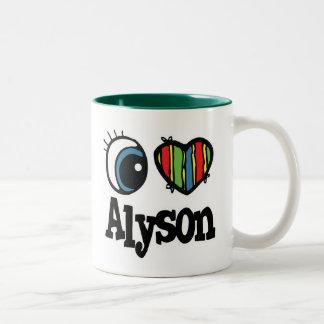 I Heart (Love) Alyson Two-Tone Mug