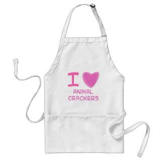 I Heart Love animal crackers Apron