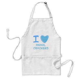 I Heart (Love) animal crackers Apron