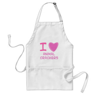 I Heart (Love) animal crackers Standard Apron