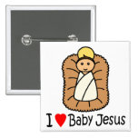 I Heart (Love) Baby Jesus Button