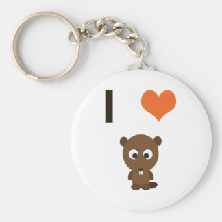 I heart (love)  Beavers Key Ring