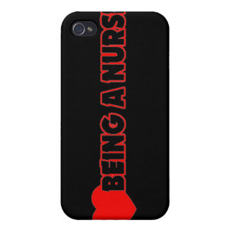 I Heart (Love) Being A Nurse iPhone 4/4S Covers